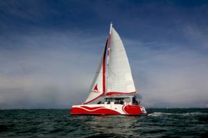 Day One 60 pieds essai en mer catamaran la rochelle Melody